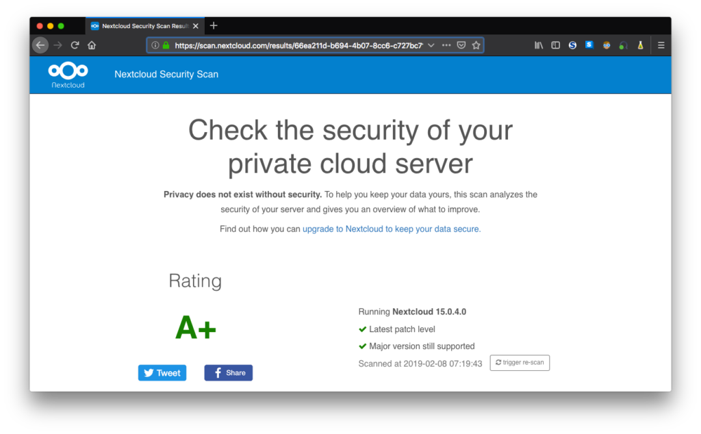 Nextcloud Security Scanner